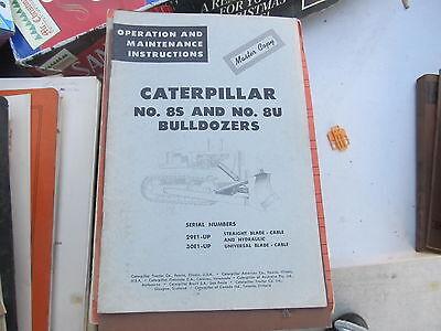 Caterpillar Vintage Operators Instructions Bookcatalog 8s 8u Bulldozer