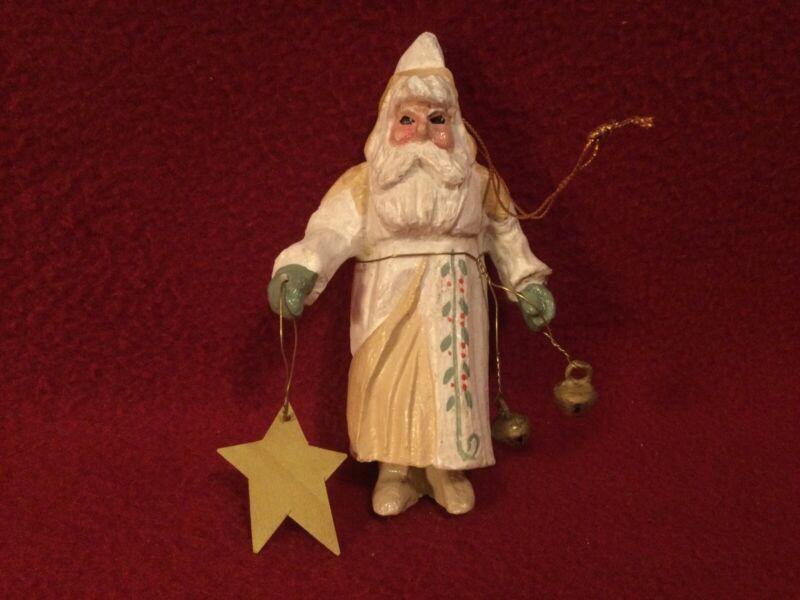 "House of Hatten 1993 ""Peace Santa"" Christmas Ornament Denise Calla"