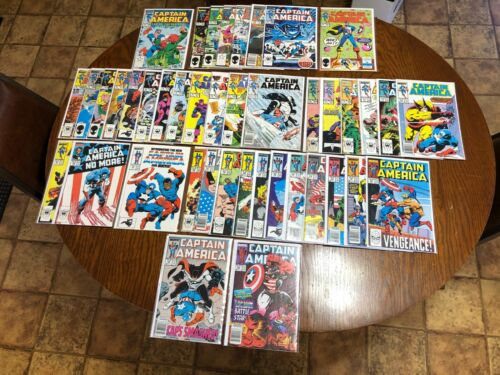CAPTAIN AMERICA LOT RUN 300-349 307 322 332 334 ALMOST ALL NM- 9.2 OR BETTER