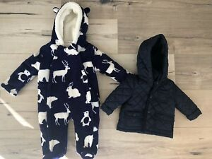 3-6 month baby coat & snowsuit