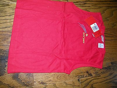 Girls Levi's Red Tab JEans Red Short Sleeve T Shirt NWT NEW Size L