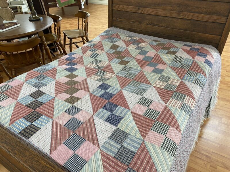 Antique Early Quilt 68 X 74