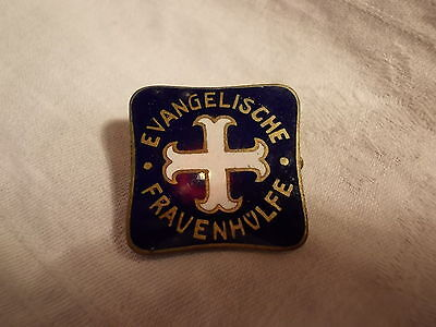 ^°^ Uralte Anstecknadel EVANGELISCHE FRAUENHÜLFE ~ 1910 Mitgliedszeichen Emaille