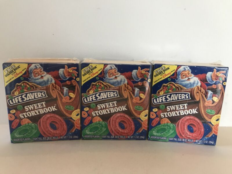Vintage Life Savers 1996 Sweet Storybook 8-Roll Candy & Golden Book Sealed Lot 3