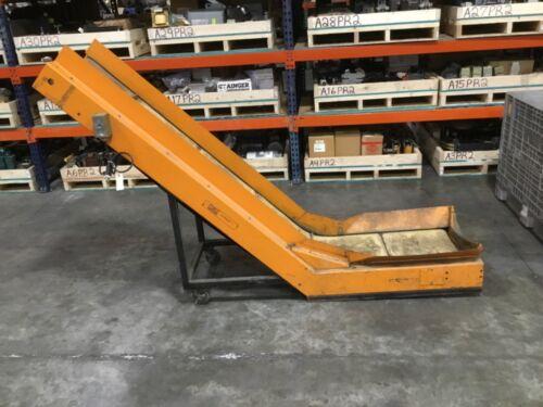LaRos Inclined Cleated Belt Conveyor 115V Tested #15BK