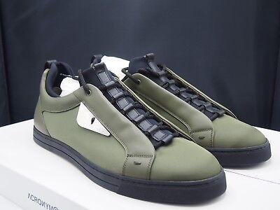 "FENDI ""Bad Bugs"" Equator Green / Chrome Sneaker Retail $750"