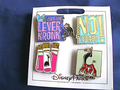 Disney Parks * EMPEROR'S NEW GROOVE * 4 Pin Set on Card Trading Pins