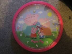 Peppa Pig Wall Clock ***NEW*** Campbell North Canberra Preview