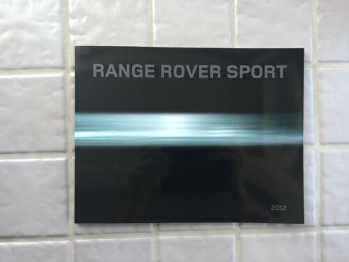 LAND ROVER RANGE ROVER SPORT PRESTIGE SALES BROCHURE 2012 USA EDITION