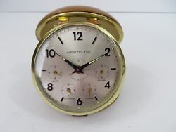 Vintage Westclox Folding Travel Alarm Clock 4 US Timezones  #7579