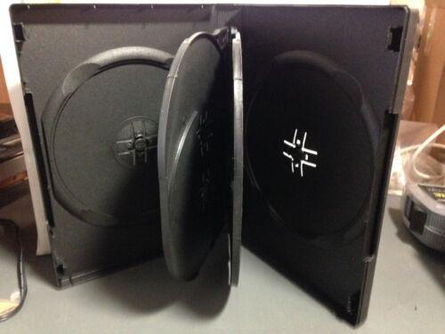 "1 Brand New Premium Black Multi Five, 5 Discs DVD/CD/PC Media Case, 7/8"" 22mm"