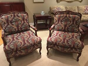 Two Barrymore Bergères Chairs