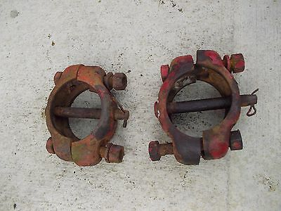 Farmall Cub Tractor Ih Wide Frontend Axle Adjustment Mounting Collars Clamps