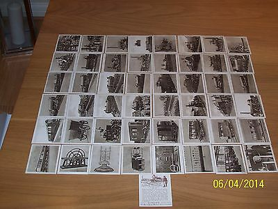 R & J HILL THE RAILWAY CENTENARY A SERIES OF L50 - 44  GOOD CARDS - BROWN BACKS