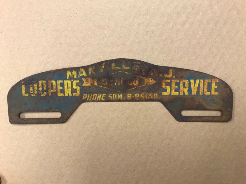 Vintage SUNOCO Cooper's Service Station Manville NJ License Plate Topper gas oil
