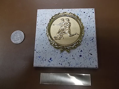 - SOCCER MEN's- New Plaque Title AWARD - GIFT w/ Gold Wreath + Insert FAST SHIP