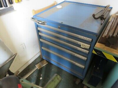 Lista Cabinet 5 Drawer Stanley Vidmar Parts Cabinet Machinist Excellent Conditio