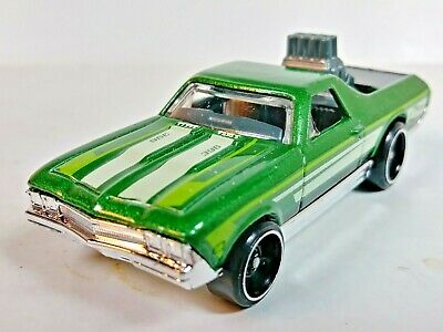 Hot Wheels 2017 #333 Muscle Mania 4/10 '68 Chevrolet El Camino Green 1/64 Loose