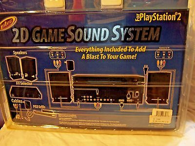 Intec 2D Game Sound System For Playstation 2 Ps2   Stereo Speakers Av System