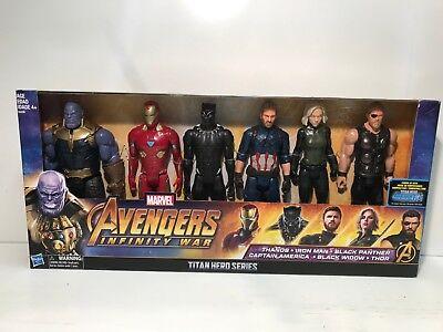 Marvel Avengers Infinity War Titan Hero Series 12'' Action Figures 6 Pack