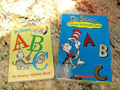 Lot of Dr. Seuss ABC Beginner Alphabet Flash Cards and board book - Cheap Dr Seuss Books