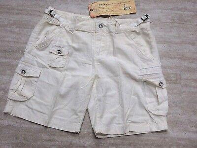 NEW Da Nang Women's Silk Blend Bermuda Summer Shorts WHITE RSS1772 MEDIUM M, used for sale  Los Angeles