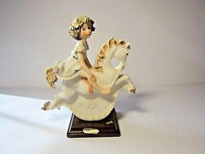 Vtg Giuseppe Armani Girl on A Rocking Horse Figurine 1986 Magic Memories Series