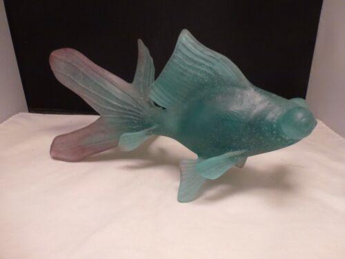 Large Daum Pate De Verre Fancy Japanese Goldfish, Excellent!!!  KOI FISH