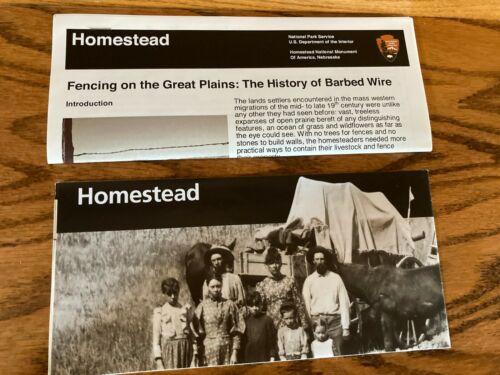 Homestead, Nebraska National Monument of America Brochure & Barbed Wire Brochure