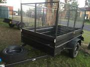 BOX TRAILER 8X5 HI SIDE & 900MM CAGE ON SALE 1Y PRIV REGO $1800 Smithfield Parramatta Area Preview