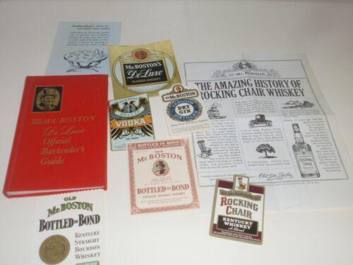 Old Mr. Boston De Luxe Vintage Official Bartenders Guide Book Vintage Labels