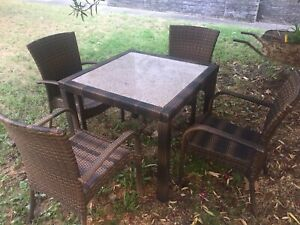 Stone Top Outdoor Dining Table And Chairs