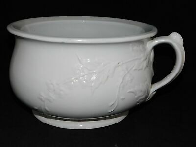 Antique Ironstone Lidded Chamber Pot Slop Jar with Wire Handle