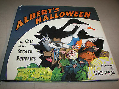 Albert's Halloween Case of the Stolen Pumpkins HCDJ 1st1998 Leslie - Halloween Font Illustrator