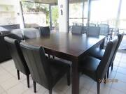 9 piece hardwood square dining table & chairs Connewarre Geelong City Preview