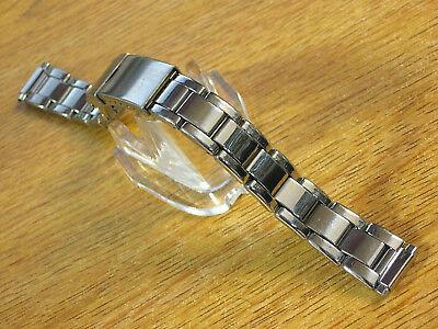 Oyster Style Ladies Silver Stainless Steel 10-14mm Metal Watch Link Bracelet -