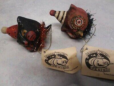 Halloween Johanna Parker Black Cat And Owl Clip Ornament Bethany Lowe Retired
