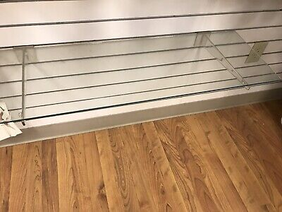Lot Of 10 12 Clear Acrylic Slatwall Shelf Brackets.