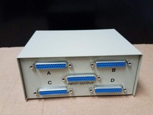 3 TO 2 CROSS DB25 MANUEL SWITCH BOX  NEW
