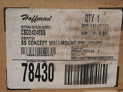 Csd24248ss Hoffman Stainless Steel Wallmount Enclosure 24x24x8 New
