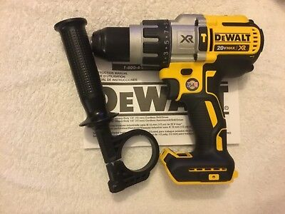 "New Dewalt DCD996B 20V Max XR 1/2"" 3 Speed Brushless Hammer Drill Driver Li-ion"