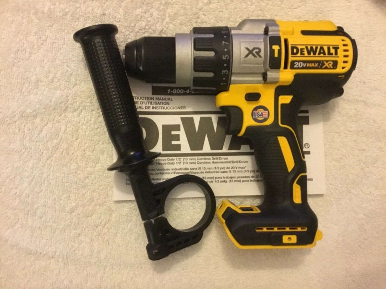 "New Dewalt DCD996B 20V Max XR 1/2"" 3 Speed Brushless Hammer"