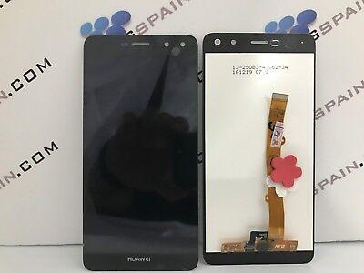 5564eea73f4 PANTALLA LCD+TACTIL sin MARCO PARA HUAWEI Y6 2017 NEGRA ENVIO MRW 24H
