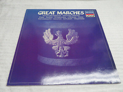 """GREAT MARCHES VARIOUS COMPOSERS SCHUBERT 12"""" VINYL RECORD"""