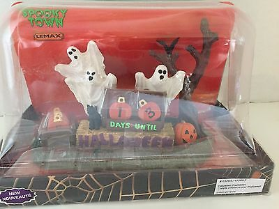HALLOWEEN Lemax Spooky Town Halloween Table Accent DAYS UNTIL COUNTDOWN #63264 - Days Until Halloween Countdown