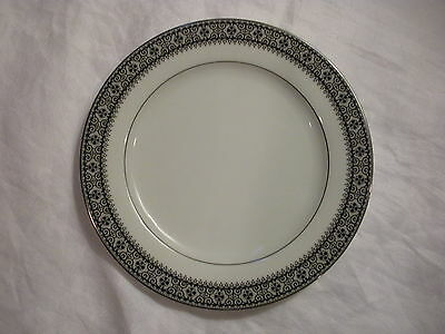 Vintage Salad Plate, Noritake China, Segovia (#2216) White w/ Black Filigree