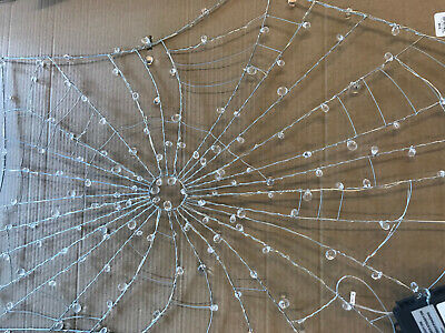 Halloween Spider Webbing (Pottery Barn Lit Crystal Spider Web NEW IN BOX)