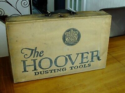 OLD VINTAGE THE HOOVER DUSTING TOOLS CARDBOARD BOX