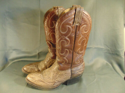 Morgan, Miller, Cowboy, Boots, western, two, tone, snakeskin, leather, design, size, 11