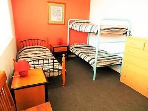 Bed for female traveller in clean Furnished 2 BR flat. NO bills. St Kilda Port Phillip Preview
